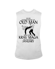 Never Underestimate Old Man Krav maga January Sleeveless Tee tile