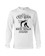 Never Underestimate Old Man Krav maga January Long Sleeve Tee tile