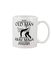 Never Underestimate Old Man Krav maga January Mug tile