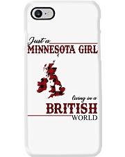 Just A Minnesota Girl In British World Phone Case thumbnail