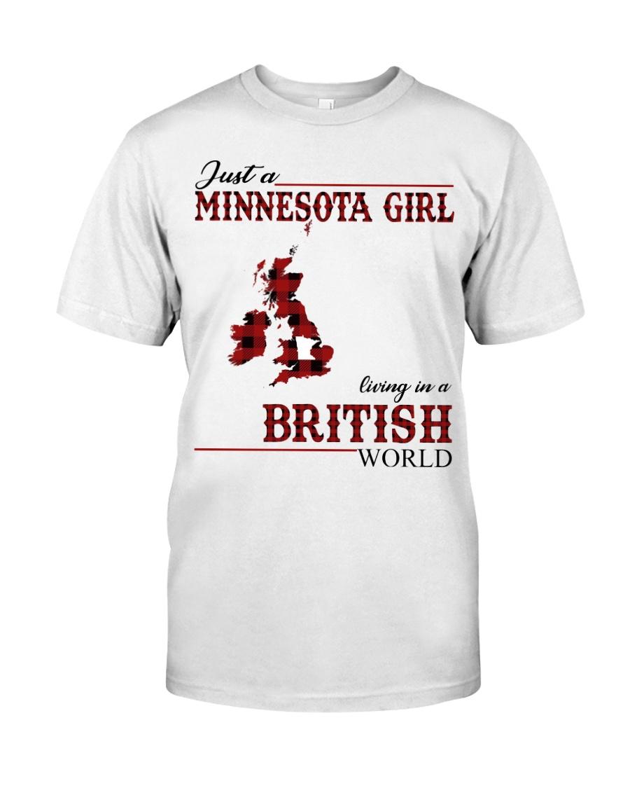 Just A Minnesota Girl In British World Classic T-Shirt