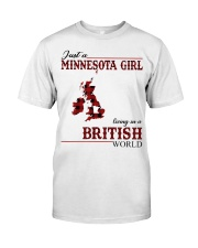 Just A Minnesota Girl In British World Classic T-Shirt front