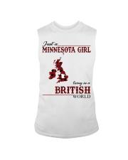 Just A Minnesota Girl In British World Sleeveless Tee thumbnail
