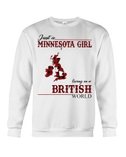 Just A Minnesota Girl In British World Crewneck Sweatshirt thumbnail