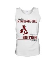Just A Minnesota Girl In British World Unisex Tank thumbnail
