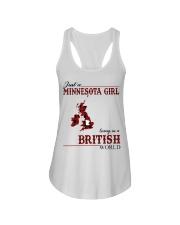 Just A Minnesota Girl In British World Ladies Flowy Tank thumbnail