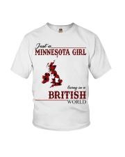 Just A Minnesota Girl In British World Youth T-Shirt thumbnail