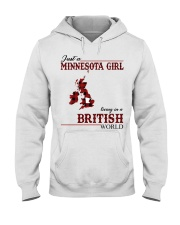 Just A Minnesota Girl In British World Hooded Sweatshirt thumbnail