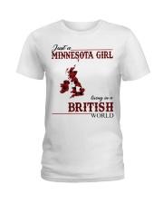 Just A Minnesota Girl In British World Ladies T-Shirt thumbnail