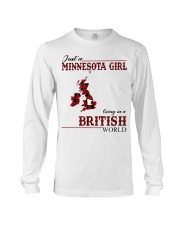 Just A Minnesota Girl In British World Long Sleeve Tee thumbnail