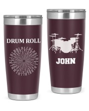 Drummer Drum Roll RLRL Personalized  20oz Tumbler front