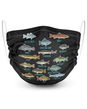 Kinds of fish species water fishing 2 Layer Face Mask - Single front