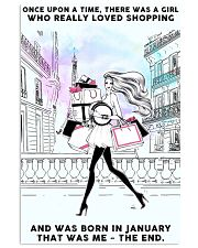 January Girl-Shopping 24x36 Poster front