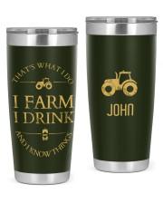 I Farm I Drink Personalized Christmas Gift 20oz Tumbler front