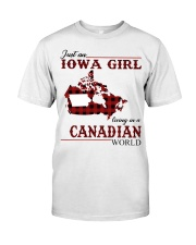 Just An Iowa Girl In Canadian Classic T-Shirt front