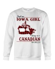 Just An Iowa Girl In Canadian Crewneck Sweatshirt thumbnail