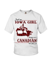 Just An Iowa Girl In Canadian Youth T-Shirt thumbnail