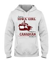 Just An Iowa Girl In Canadian Hooded Sweatshirt thumbnail