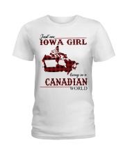 Just An Iowa Girl In Canadian Ladies T-Shirt thumbnail