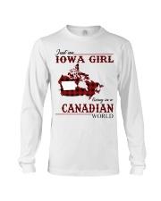 Just An Iowa Girl In Canadian Long Sleeve Tee thumbnail