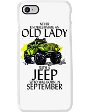 Never Underestimate Old Lady Jeep September Phone Case thumbnail