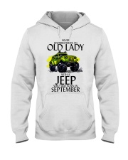 Never Underestimate Old Lady Jeep September Hooded Sweatshirt thumbnail