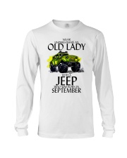 Never Underestimate Old Lady Jeep September Long Sleeve Tee thumbnail