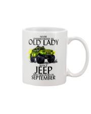 Never Underestimate Old Lady Jeep September Mug thumbnail
