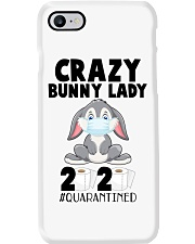 Crazy Bunny Lady 2020 Quarantined Phone Case tile