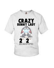 Crazy Bunny Lady 2020 Quarantined Youth T-Shirt tile
