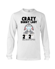 Crazy Bunny Lady 2020 Quarantined Long Sleeve Tee tile