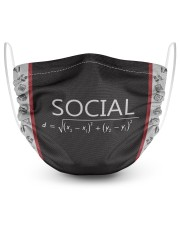 Social Distance Math 2 Layer Face Mask - Single front