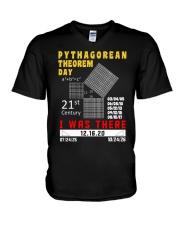 Math Pythagorean Theorem Day  V-Neck T-Shirt thumbnail
