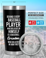 Baseball Grandma  Personalized Christmas Gift 20oz Tumbler aos-20oz-tumbler-lifestyle-front-47