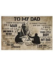 To My Dad From Son camping 24x16 Poster front