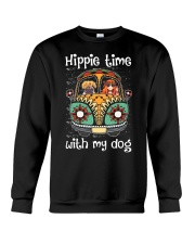 Hippie Time With My Dog Crewneck Sweatshirt thumbnail