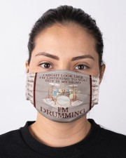 In My Head I'm Drumming  Cloth face mask aos-face-mask-lifestyle-01