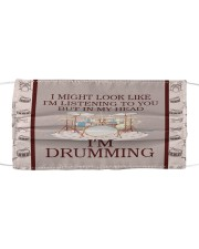 In My Head I'm Drumming  Cloth face mask front