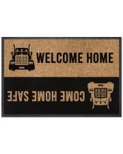 """Trucker Welcome home Doormat 22.5"""" x 15""""  front"""