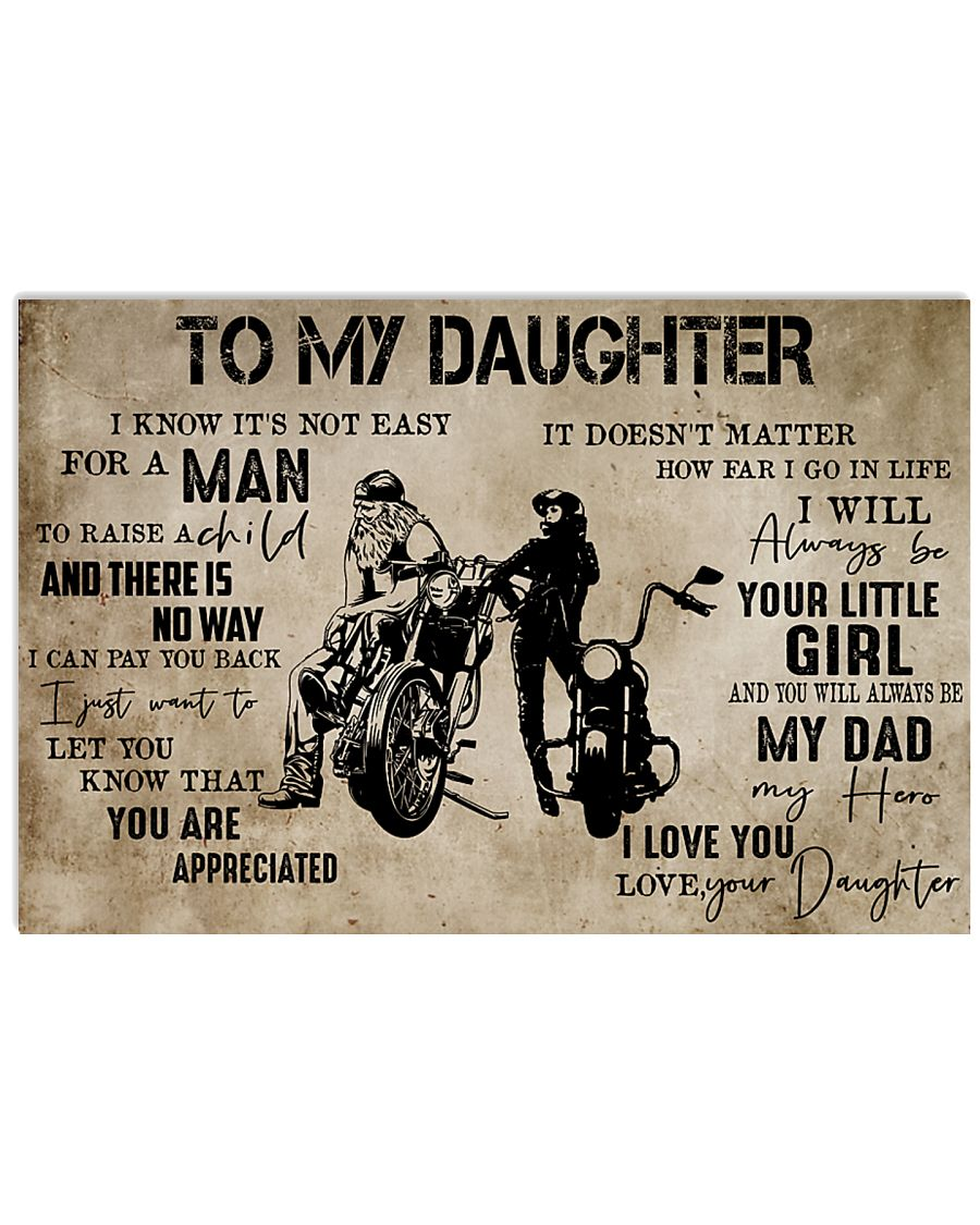 Motorcycle-To My Dad From Daughter 24x16 Poster