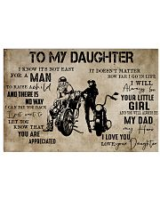 Motorcycle-To My Dad From Daughter 24x16 Poster front