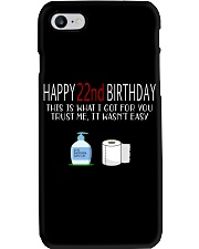 22th birthday 22 year old Phone Case tile