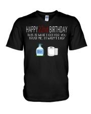 22th birthday 22 year old V-Neck T-Shirt tile