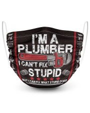 a plumber 2 Layer Face Mask - Single front