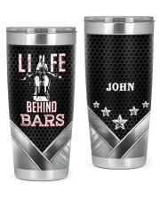 Biker Life behind bars Personalized Christmas Gift 20oz Tumbler front