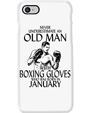 Never Underestimate Old Man Boxing Gloves January Phone Case thumbnail