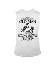 Never Underestimate Old Man Boxing Gloves January Sleeveless Tee thumbnail