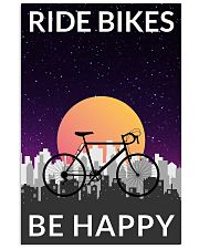 Cycling Ride Bikes Be Happy 24x36 Poster front