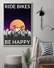 Cycling Ride Bikes Be Happy 24x36 Poster lifestyle-poster-1