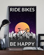 Cycling Ride Bikes Be Happy 24x36 Poster lifestyle-poster-2